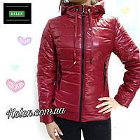 Куртка короткая демисезонная красная, фото 1