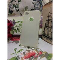TPU Матовый силиконовый чехол iPhone 4/4S Белый