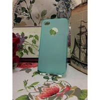TPU Матовый силиконовый чехол iPhone 4/4S Бирюзовый
