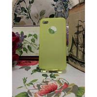 TPU Матовый силиконовый чехол iPhone 4/4S Желтый
