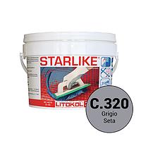 Litokol Starlike базовые цвета C.320 Cерый шелк 5 кг затирка для швов STRGST0005