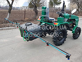 Опрыскиватель 130л с двумя насосами для мототрактора, мини-трактора, мотоблока. Работает от 12 вольт