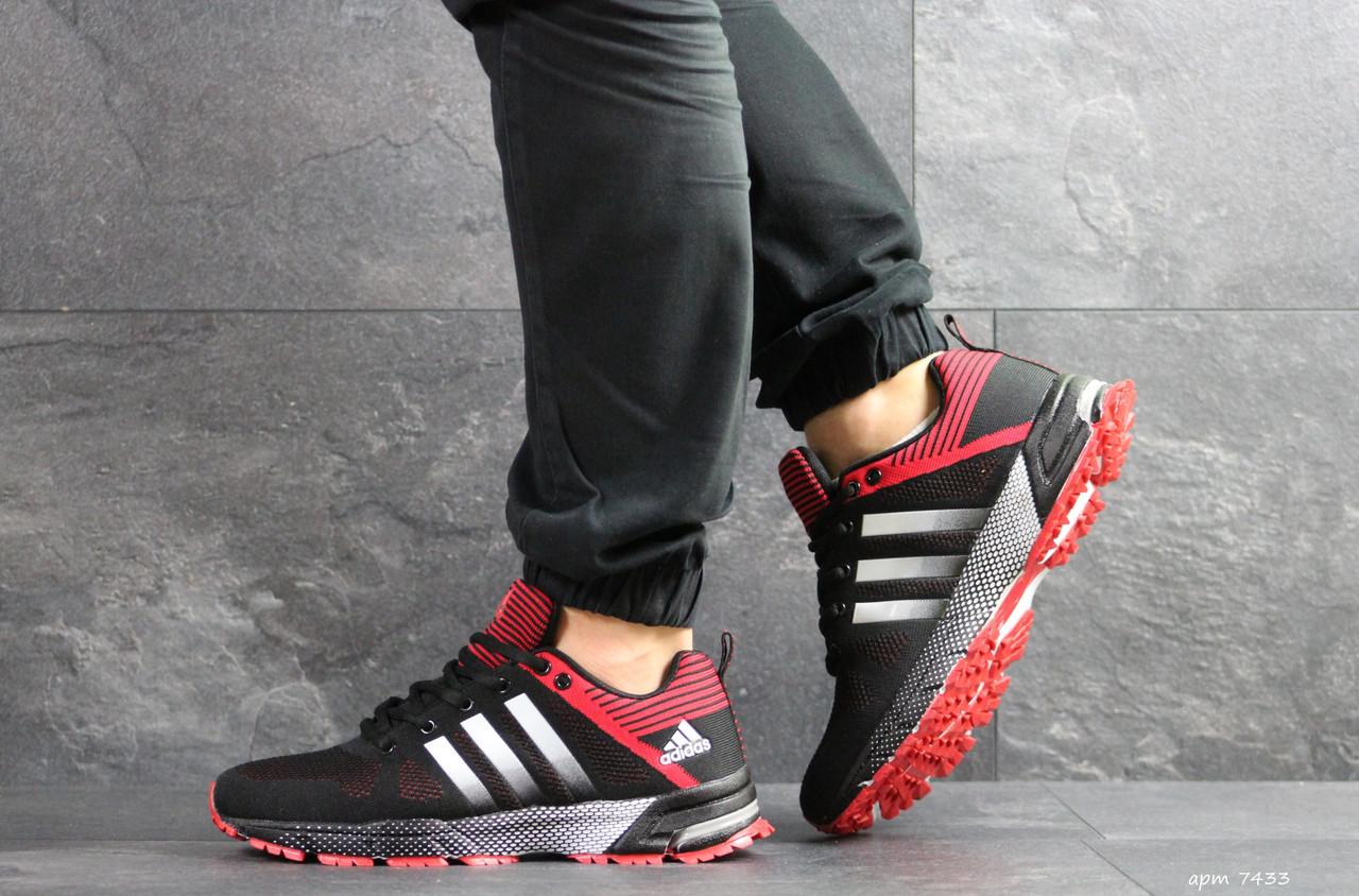 9398e1843e11e6 Чоловічі кросівки Adidas Marathon, чорні з червоним - BEST-CROSS в  Хмельницком