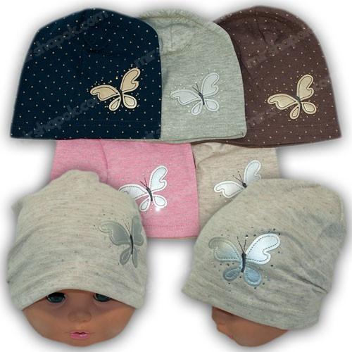Трикотажные шапки для девочек, р. 42-44