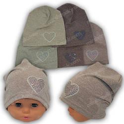 Красивые трикотажные шапки для девочек, р. 42-44