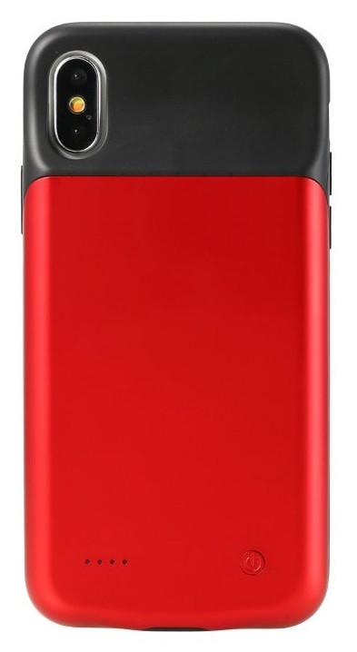 Чехол аккумулятор AmaCase для iPhone X/XS Красный (3200 мАч)