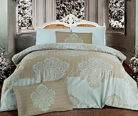 Постельное белье Altinbasak сатин люкс Barok cream 160x220-2 шт семейное