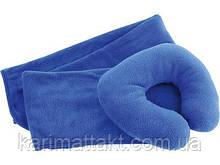 Подушка и плед для отдыха