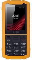Защищенный телефон кнопочный на 2 сим карты ERGO F245 Strength черно-желтый