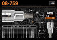 """Головка 1/2""""- 55мм с насадкой Torx T70, NEO 08-759"""