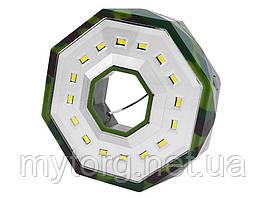 Туристический фонарь для кемпинга BL-983-16SMD с магнитом, 3xAA, петлей для подвеса  Зеленый