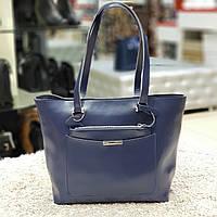 Женская  синяя сумочка из натуральной кожи, фото 1