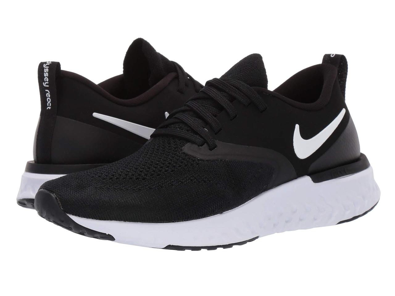 04dd618248d575 Кроссовки/Кеды (Оригинал) Nike Odyssey React Flyknit 2 Black/White - TopUSA