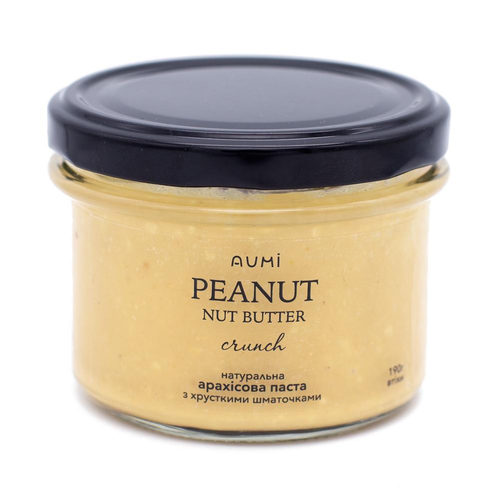 Кранч арахисовая паста, 190г, уникальная рецептура, хрустящие кусочки, 100% арахис, без добавок