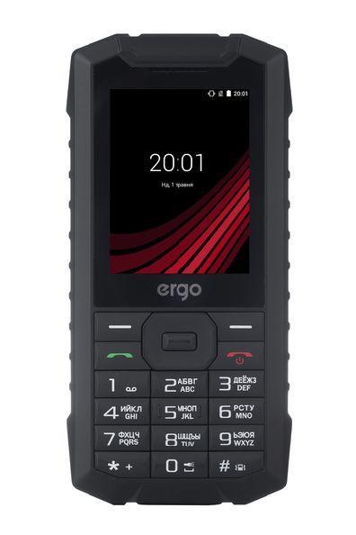Защищенный телефон кнопочный на 2 сим карты ERGO F245 Strength черный