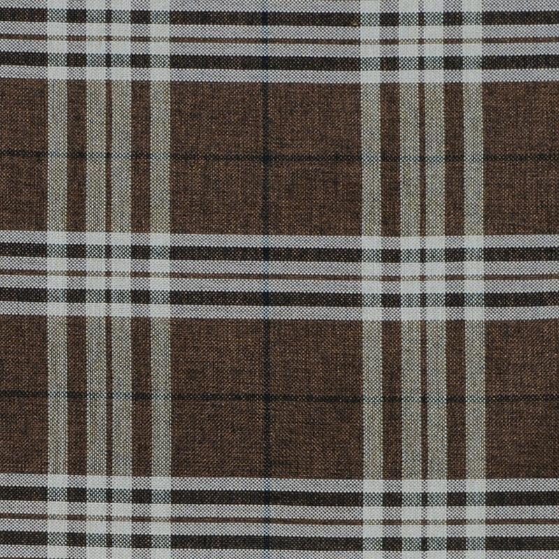 Рогожка Шотландия темно-коричневый