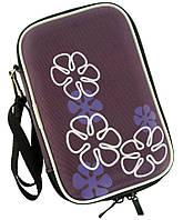Чехол с цветочным узором TRAUM 7016-37, для жёсткого диска, фиолетовый.