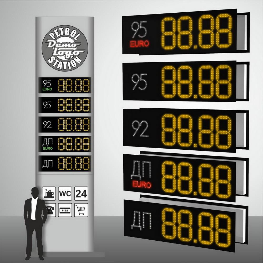 """Комплект светодиодных табло для автозаправок """"PS2-320E"""" (высота символа 320 мм)"""