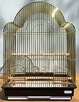 """Клетка золотая """"Rose"""" для малых и средних птиц  42х30х56 см, фото 1"""