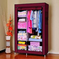 Складной тканевый шкаф 6 отделений HCX Storage Wardrobe коричневый