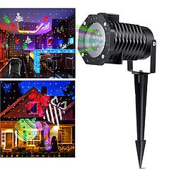 Уличный проектор  Star shower Outdoor Motion Рисунки+ Лазер металлический корпус