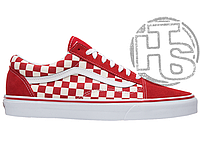 Мужские кеды Vans Old Skool x Supreme Checkerboard Racing Red White VN0A38G1P0T