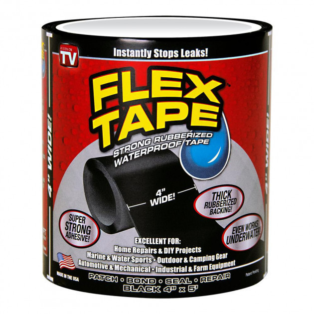 Водостойкая изоляционная лента Flex Tape Water pro Черная