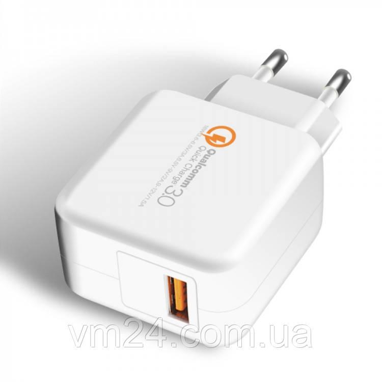 Сетевое зарядное устройство EVOC USB QC 3.0 SMART CHARGER 2.4A (3214) белый