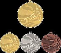 """Медаль MMC4950 """"Лыжи"""" с лентой (50mm)"""