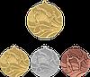 """Медаль MMC5250 """"Кикбоксинг"""" с лентой (50mm)"""