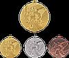 """Медаль MMC15050 """"Футбол"""" с лентой (50mm)"""