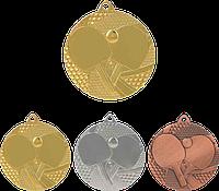 """Медаль MMC7750 """"Настольный тенис"""" с лентой (50mm)"""