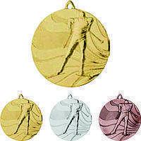 """Медаль MMC3350 """"Лыжи"""" с лентой (50mm)"""