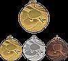 """Медаль MMC1840 """"Настольный тенис"""" с лентой (40mm)"""