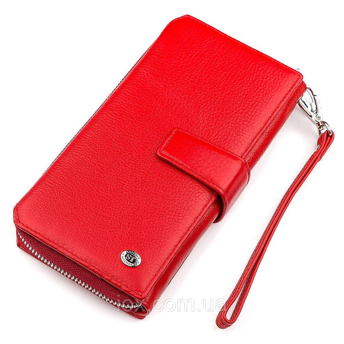 1753de4fa67b Кошелек женский ST Leather 18456 (SТ228) очень красивый Красный, Красный