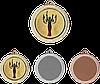 Медаль MMC3232 c жетоном и лентой (32mm)