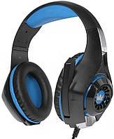 Спеццена!!! Наушники Crown CMGH-102T Black/Blue USB