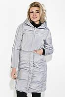 Пальто женское с капюшоном 154V002 (Стальной)