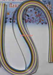 Бумага для квиллинга 7 мм 10 цветов УП-107