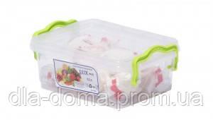 Контейнер пищевой пластиковый Lux 1.2 л