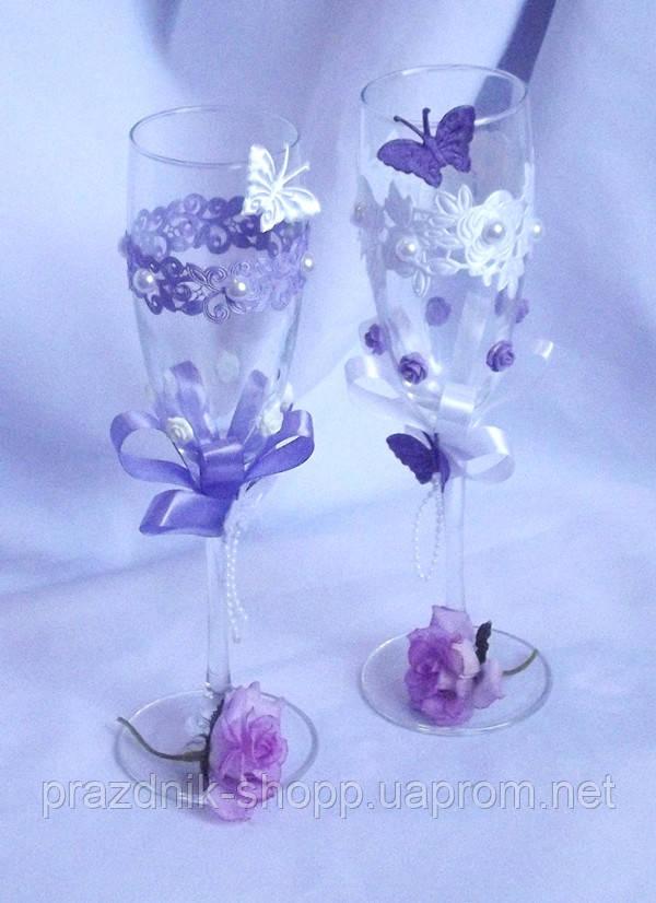Свадебные бокалы  036