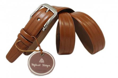Ремень кожаный классический 3285 коричневый