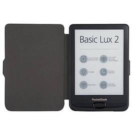 Чехол обложка PocketBook 616 черная  Автоматическое включение и выключение режима сна