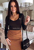 Женская триотажная кофта с декольте