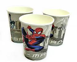 """Одноразовые бумажные стаканы """"Человек паук"""", 10 штук на день рождение"""