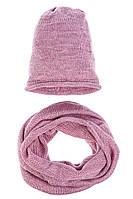 Комплект (двойка) женский с люрексом 65PF95-041 (Розовый,люрикс)