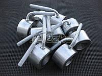 Замки для штанги на олимпийский гриф по 2.5 кг хромированные (зажимы, фиксаторы), фото 1