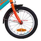 Детский велосипед Formula Race MC 16 дюймов оранжево-бирюзовый с багажником, фото 3