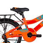 Детский велосипед Formula Race MC 16 дюймов оранжево-бирюзовый с багажником, фото 4