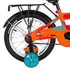 Детский велосипед Formula Race MC 16 дюймов оранжево-бирюзовый с багажником, фото 5